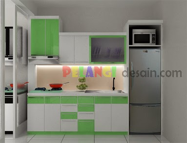 Kitchen Set Kitchen Set Nuansa Warna Hijau