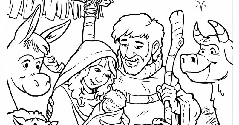 ian dale art & design | blog: christmas nativity scene - free ... - Nativity Character Coloring Pages