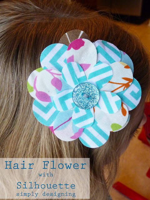 Hair Flowers for girls using a Silhouette - #silhouette #spon #hairbows #craft