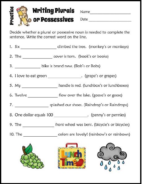 Possessive apostrophe worksheet grade 2