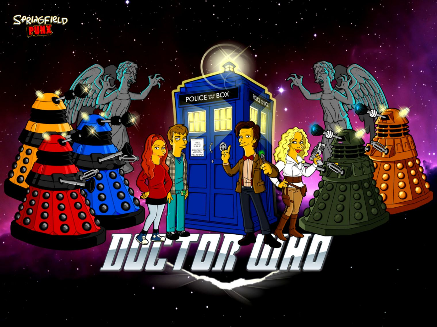 Doctor Who as the Simpsons