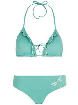 bikini Guillermina Baeza 2013 para Mango Touch verde