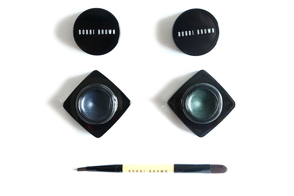 bobbi brown long wear gel sparkle shadow liner ombre à papières + eyeliner avis test swatches