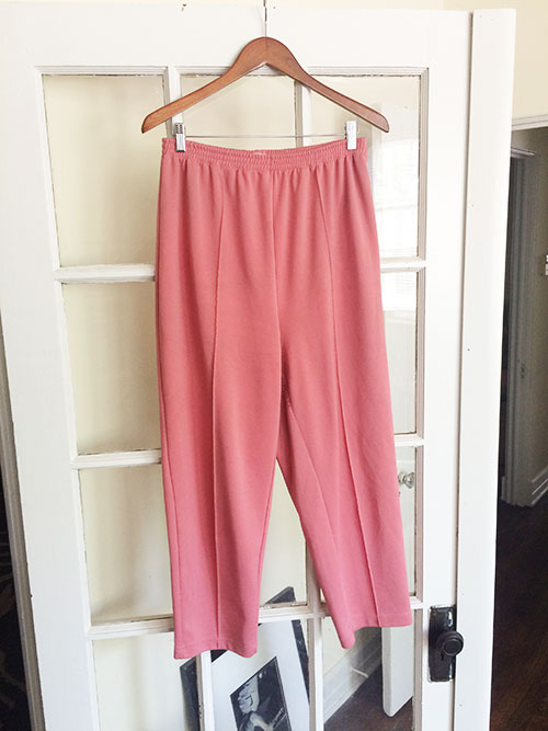 vintage pants, thrifted cropped trousers,