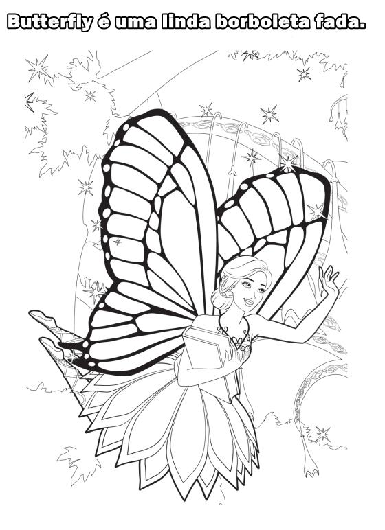 Desenho de uma Barbie sereia para colorir Hello Kids - imagens da barbie fada para colorir
