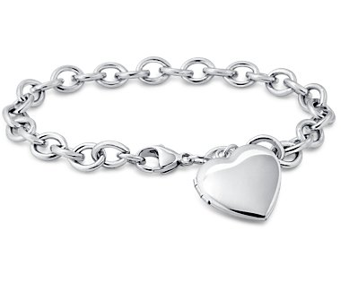 Sterling Silver Bracelet Sweetheart Locket