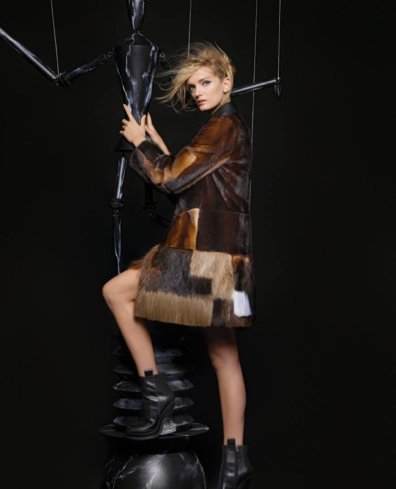 Fendi Fall/Winter 2015 Campaign stars Kendall Jenner and Lily Donaldson