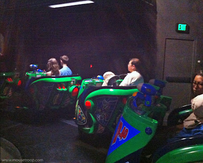Buzz Lightyear Disneyland ride shutdown breakdown stuck