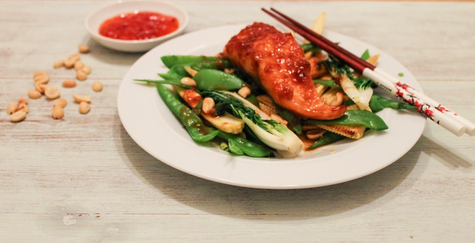 Chinese baked salmon