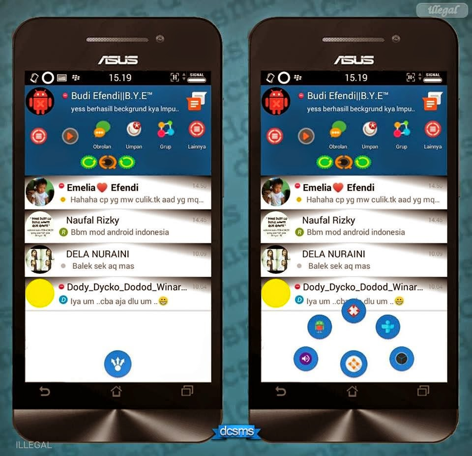 BBM Mod Smophinx Mini 2.7.0.23 + Post to FB