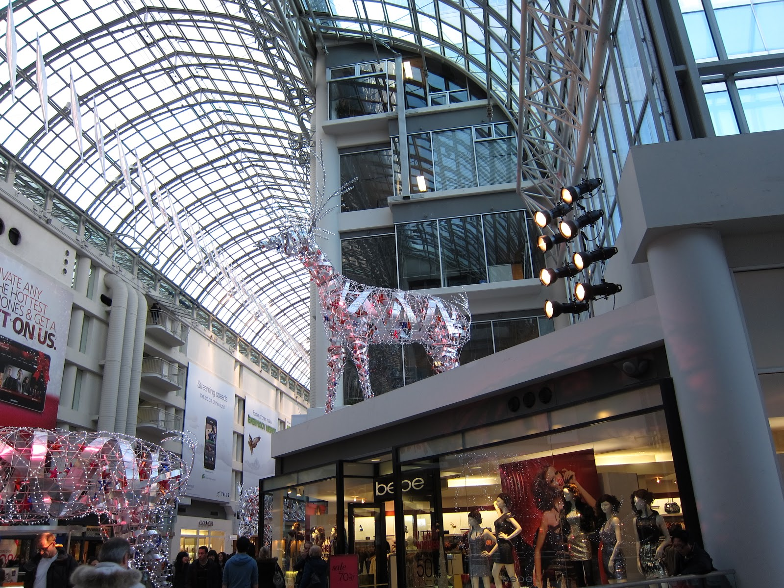 This year, holiday shoppers at the Eaton Centre will be able to take advantage of extended hours that will take effect August (STEVE RUSSELL / TORONTO STAR) The venue will be open a.m. to p.m., Monday to Saturday, and 10 a.m. to 7 p.m. on Sundays.