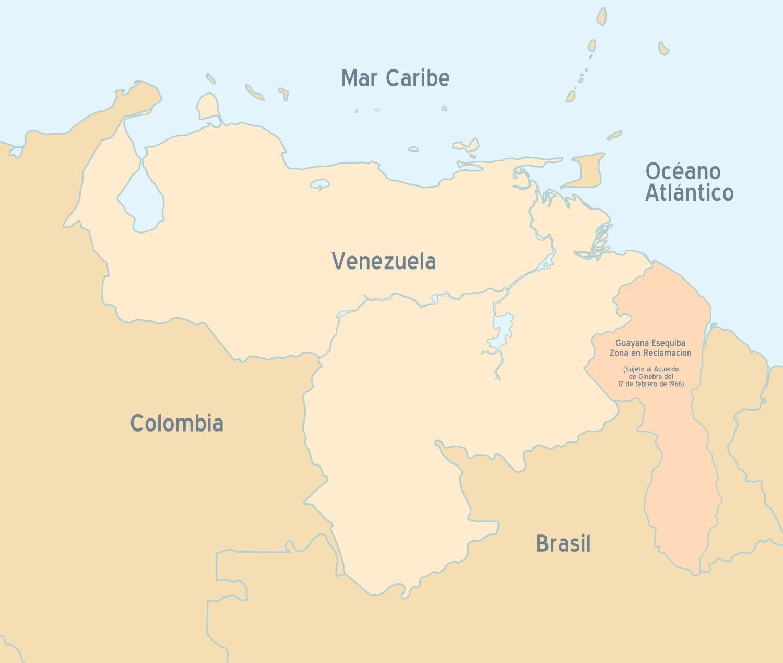 Dibujo del mapa de venezuela senalando sus limites - Imagui