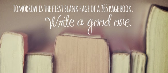 Tomorrow is the first blank page quote | Denise on a Whim