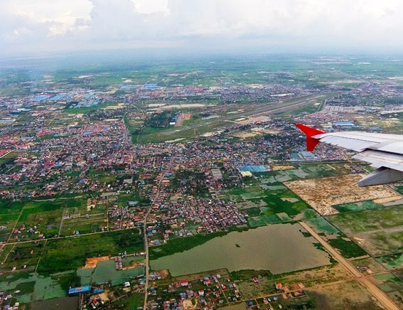 Approaching Phnom Penh Airport