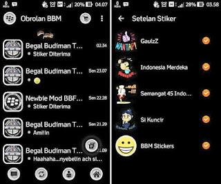 BBM Mod MR Black 2.9.0.51 + Animasi Bergerak + Sticker