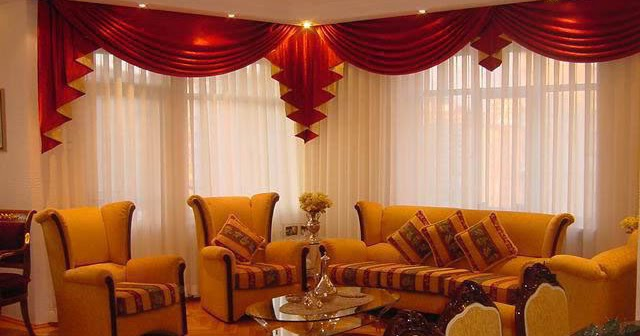 Curtains catalog designs styles colors for living room for Red and cream curtains for living room