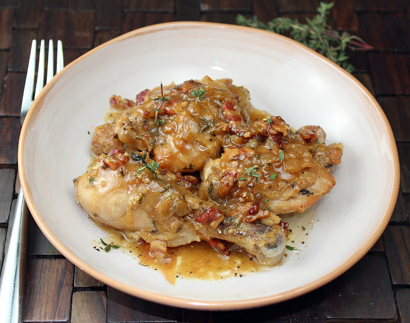 Beer Braised Chicken with Bacon | Generation Y Foodie