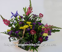 Bright Rememberance Basket of Flowers