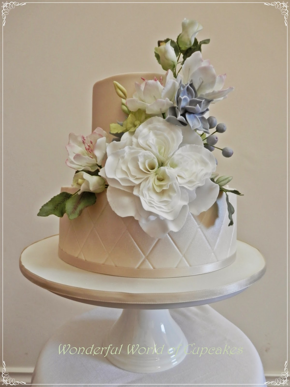Wonderful World of Cupcakes Floral Wedding Cake