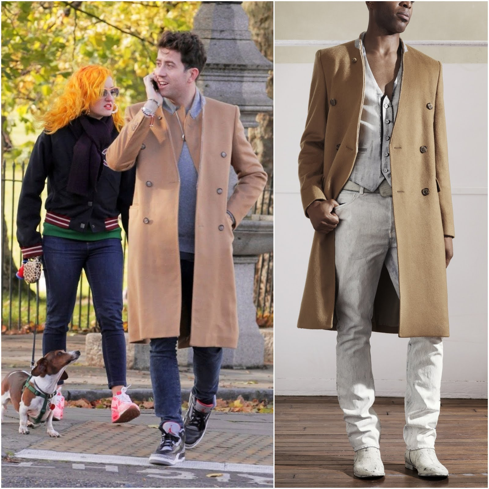 Nick Grimshaw in Maison Martin Margiela for H&M - Out and about in Primrose Hill, London 00O00 Menswear Blog Celebrity Style