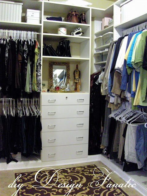 organized closet, diy design fanatic, diy, organization
