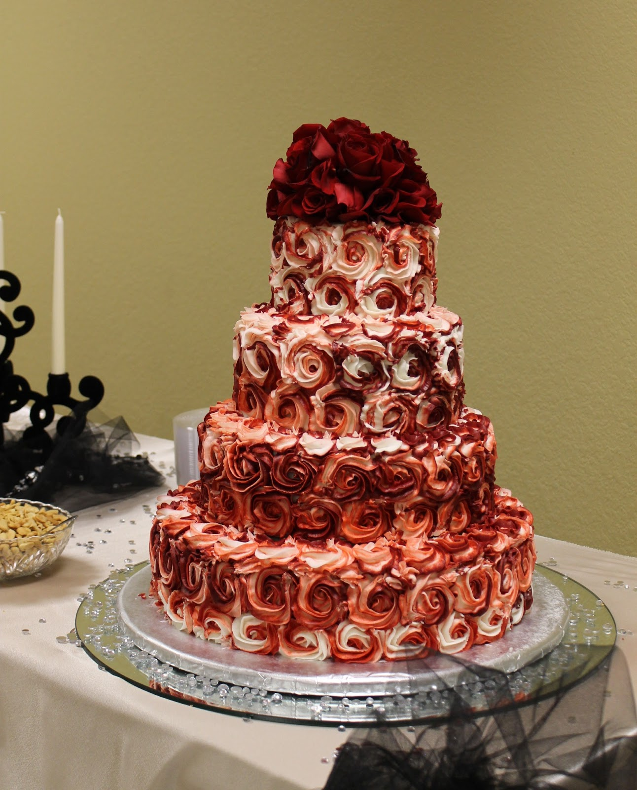The Simple Cake Red Rose Wedding Cake