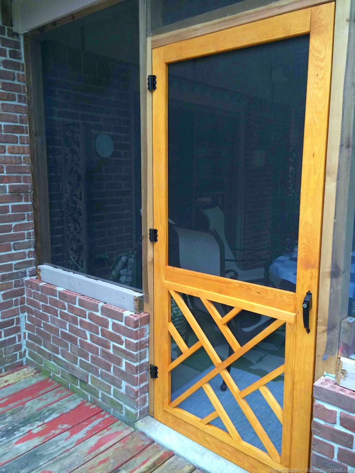 A new chapter diy rebuilding a screen porch for New screen door