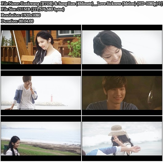 Download MV Eunkwang (BTOB) & Sung Eun (4Minute) - Love Sickness (Melon Full HD 1080p)