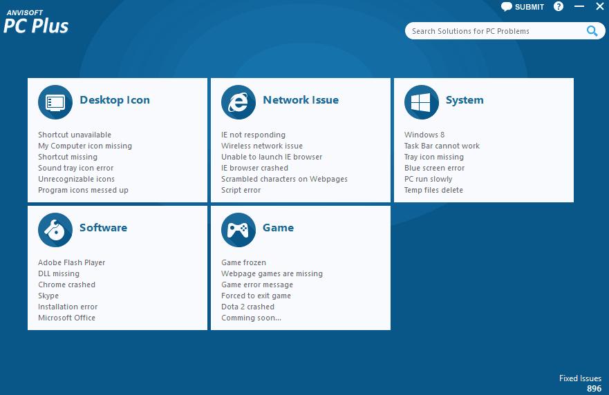 Anvisoft PC Plus schermata iniziale