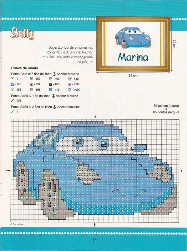 <b>Вышивка</b> <b>крестом</b> / Cross stitch : Герои из мультика Тачки