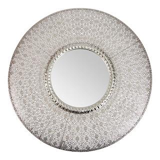 C mo decorar con espejos vintage for Espejo redondo recibidor