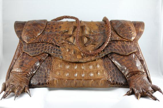 1d36dd2387ae My Pretty Baby Cried She Was a Bird  Vintage Baby Alligator Handbags ...