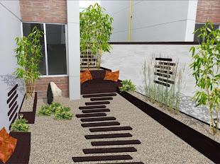 diseño jardín minimalista Zen