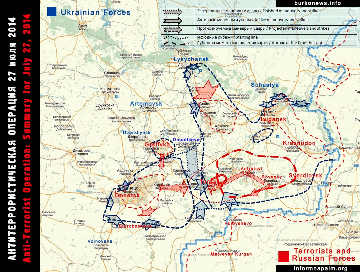 map of war in donbass ukraine 2014 07 28