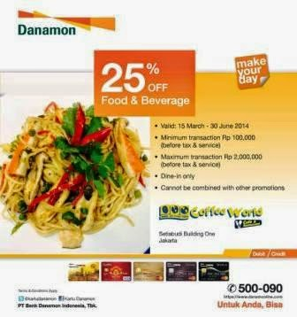 Harga/Katalog Promosi Dining | Cafe terbaru di COFFEE WORLD [ Berlaku 15 Mar 2014 s/d 30 Jun 2014 ]