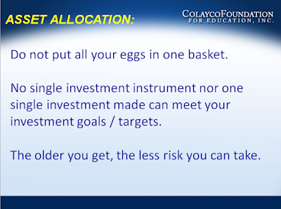 Money Matters - Asset Allocation - Colayco