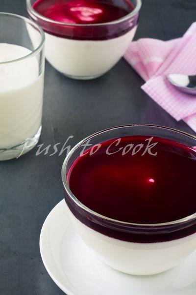 Панна котта йогуртовая со сливками и вишнёвым конфитюром