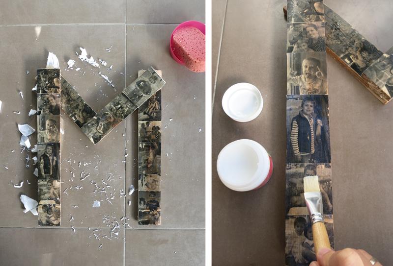 DEF Deco - Decorar en familia: Diy letra de madera con fotos6