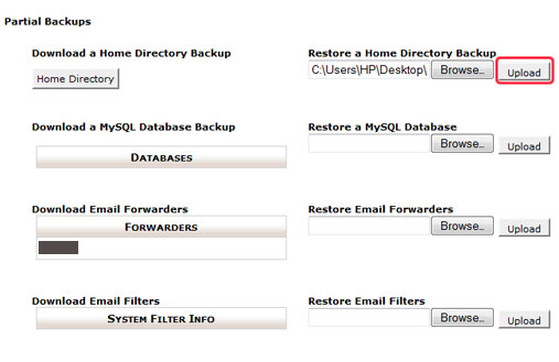 How to restore a website backup in cPanel
