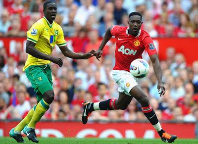 Danny Welbeck Manchester United vs Norwich City