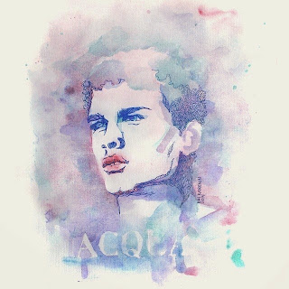 Simon Nessman by Kai Karenin, mixed media portrait