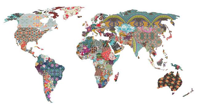 mappa artistica del mondo