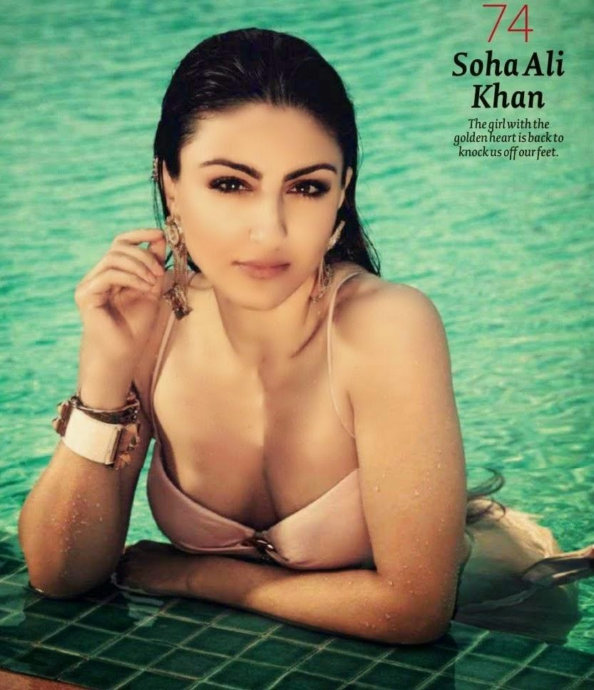 Soha Ali Khan Boobs show