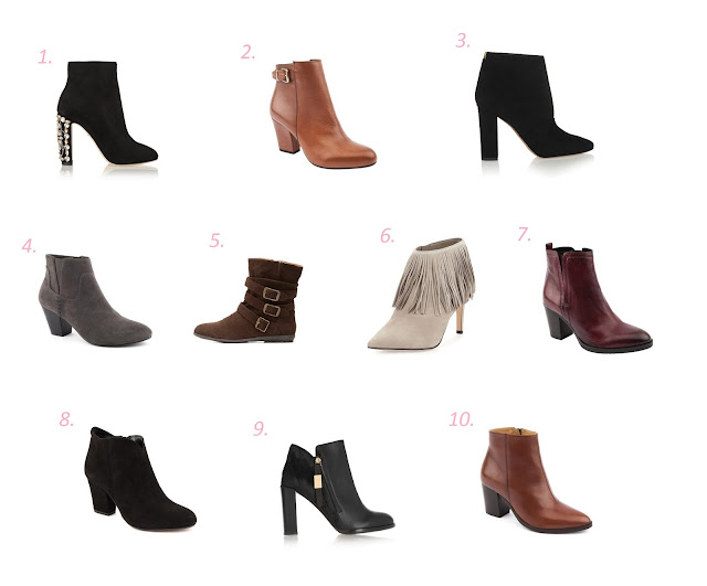 Different choices o ankle boots for fall