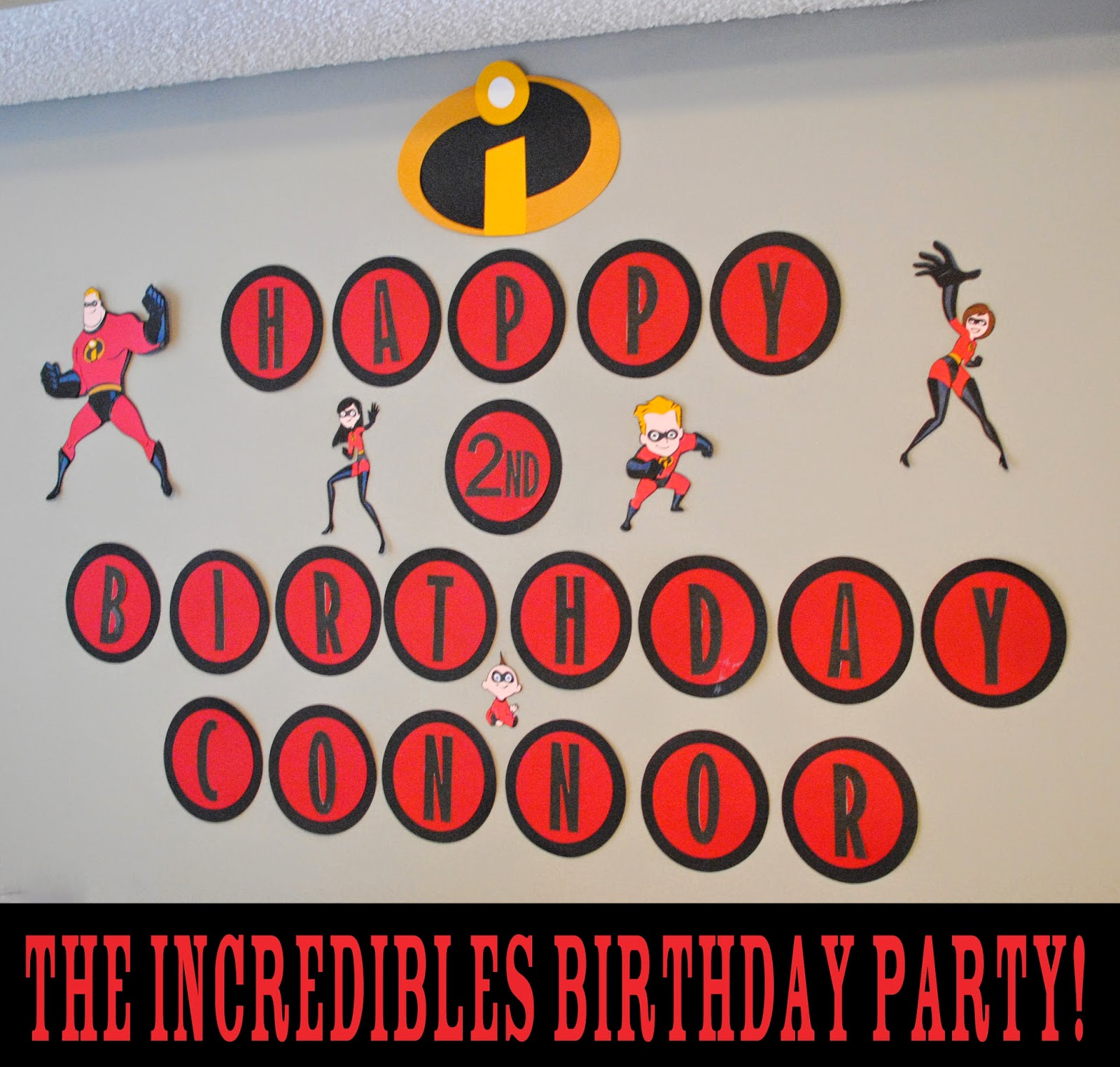 Incredibles Decorations