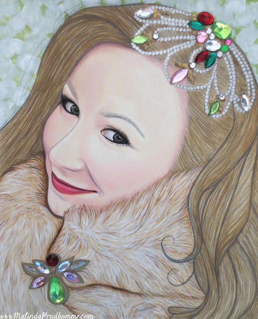 portrait, portrait artist, toronto portrait artist, bejeweled beauties, beauty art, beauty, gems, gold, mixed media art, mixed media artist, uk, london, england, toronto, canada, exhibit here, natural beauty, all women are beautiful, travel artist