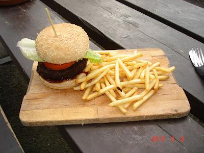 Veggie Burger at Market Bar, Bath