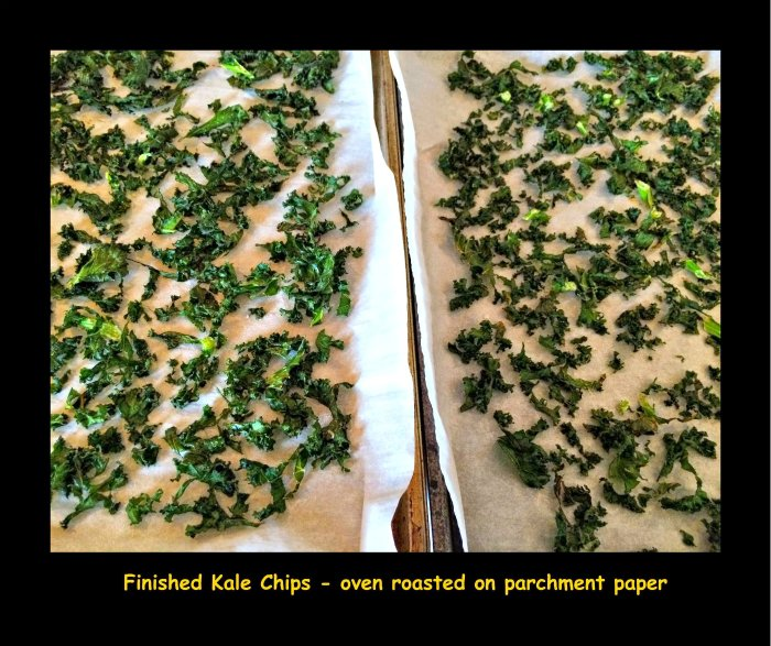kale chips, homemade