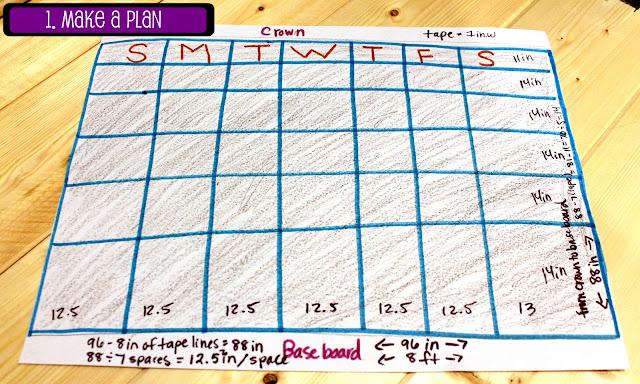 Chalkboard Calendar diy
