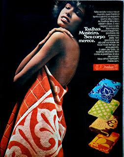 propaganda toalhas Mosteiro - 1976.  anos 70.  Reclame 1976.  década de 70. os anos 70; propaganda na década de 70; Brazil in the 70s, história anos 70; Oswaldo Hernandez;